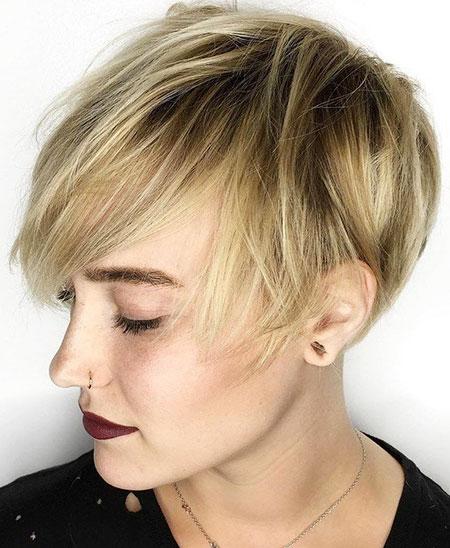 Blonde Pixie Cut, Pixie Fine Bob Blonde