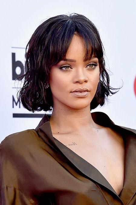 Rihanna Short Wig Singer