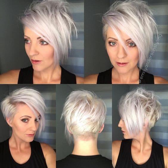 Asymmetrical, Long Pixie Haircut - Short Hair Styles for Fine Hair
