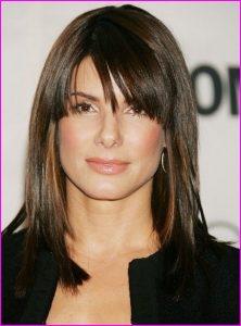 Medium Straight Hairstyles With Side Bangs Short Hair Models