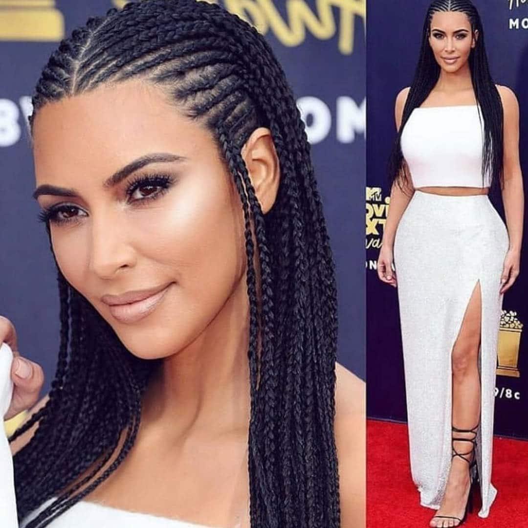50 Classy Cornrows Braids for Black Women   Short Hair Models