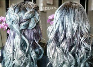 20 Trendy Celebrity Gray Hair Color Ideas 2019.