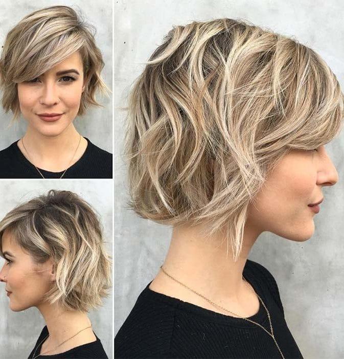38 Short Layered Bob Haircuts With Side Swept Bangs That Make You