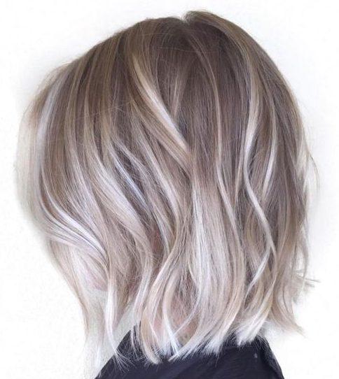Ash blonde for short wavy hair
