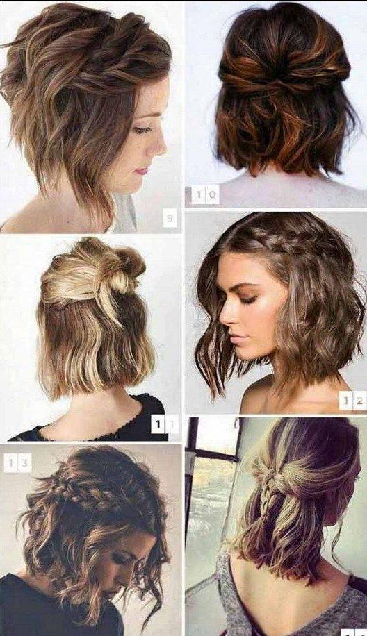 Beginner easy braids for short hair