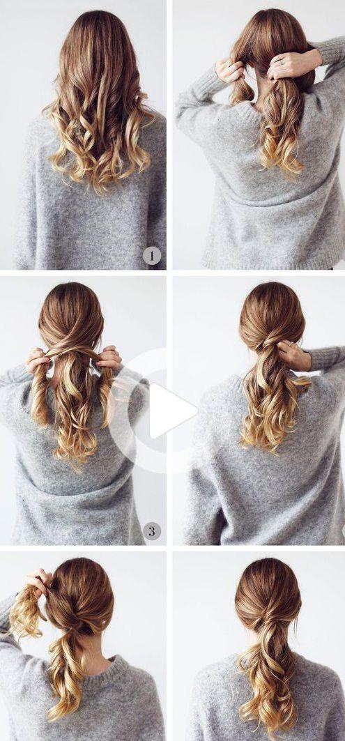 Beginner last minute easy hairstyles