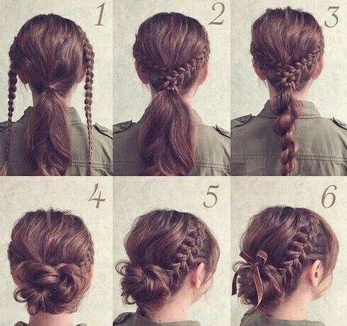 Beginner quick easy hairstyles for school