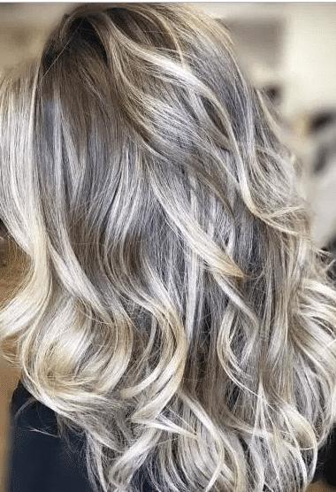 Blonde balayage hairstyle for ash blonde