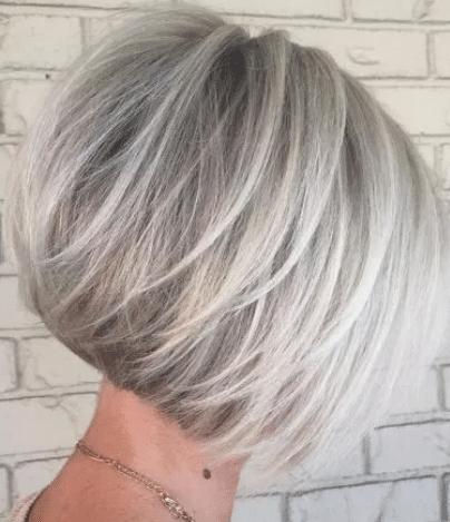 Blonde balayage hairstyle for bob