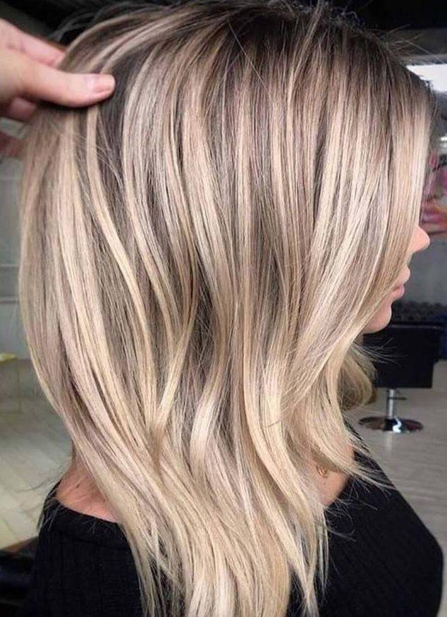Blonde balayage tall hair