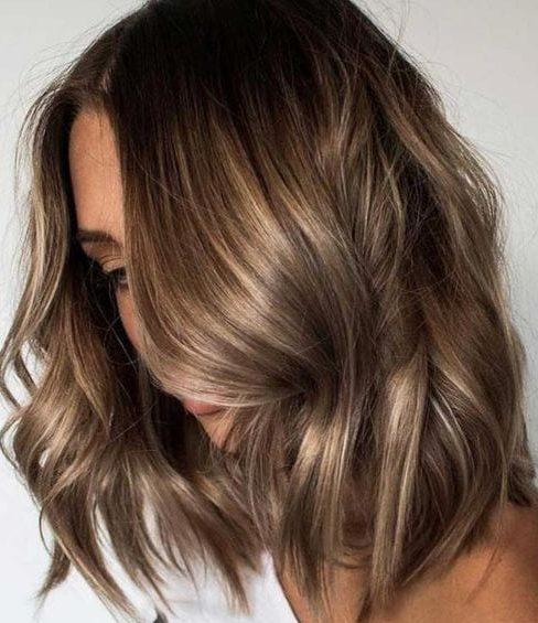 Brown hair sun kissed highlights