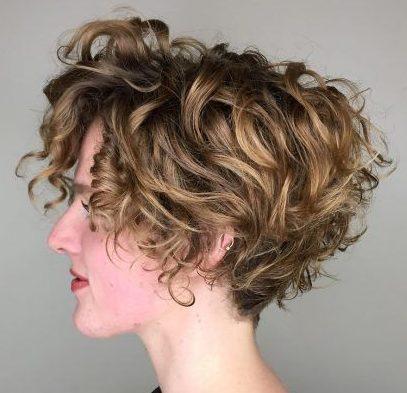 Curly short hair styles