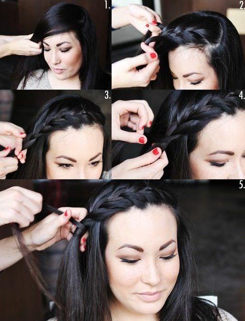 Easy cute braids for short hair