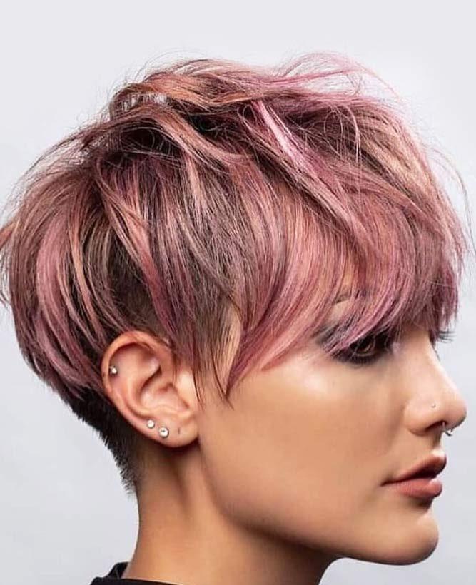 Feminine hair color for pixie cut