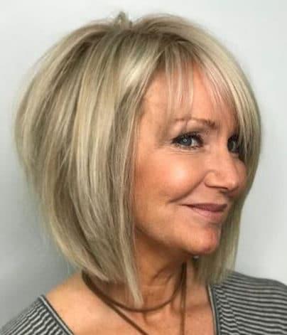 Fine hair bob hairstyles for older women
