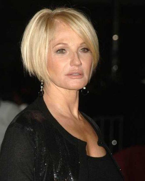 Fine hair short bob hairstyles for older women