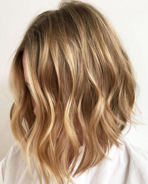 Honey Blonde for short hair