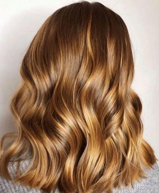 Honey Blonde for short wavy hair