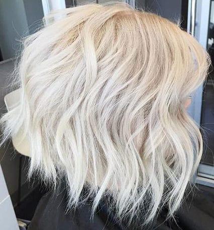 Ice bob short platinum hair