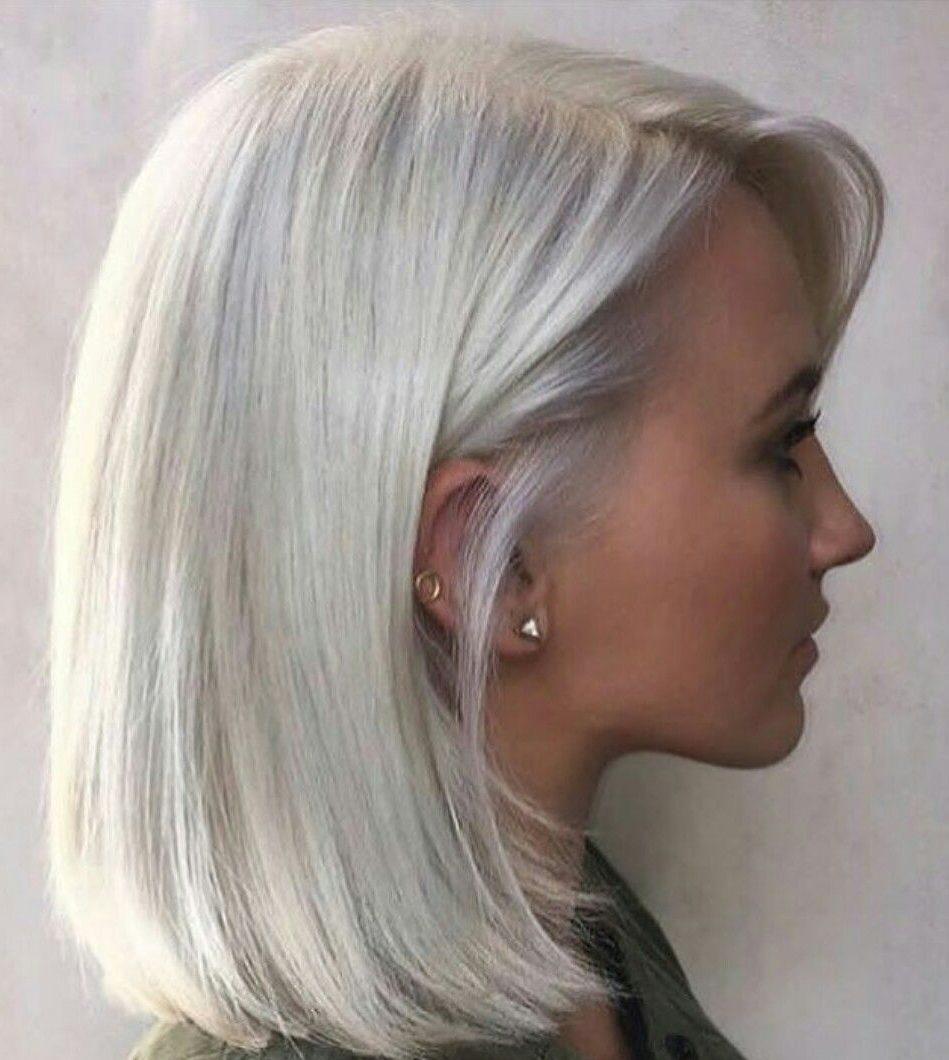 Platinum blonde hair for short hair
