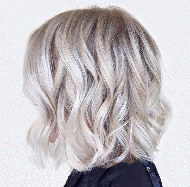 Platinum ice short blonde hair