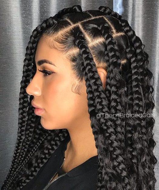 Quick black braided hairstyles