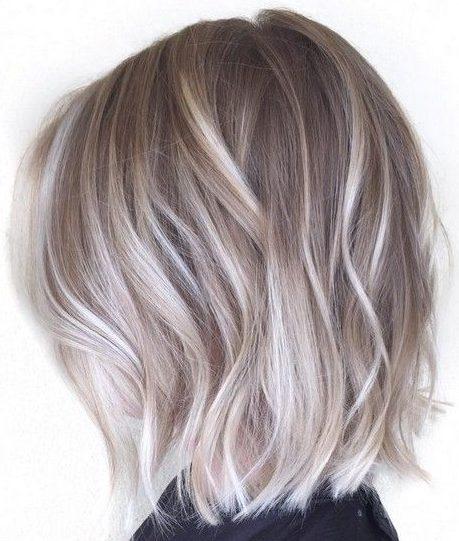 Short ash blonde highlights hairstyles balayage