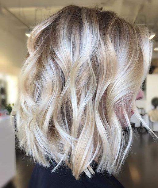 Short blonde bob hairstyles balayage