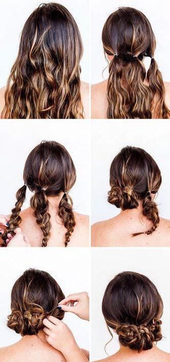 Shoulder length hair last minute hairstyles for school