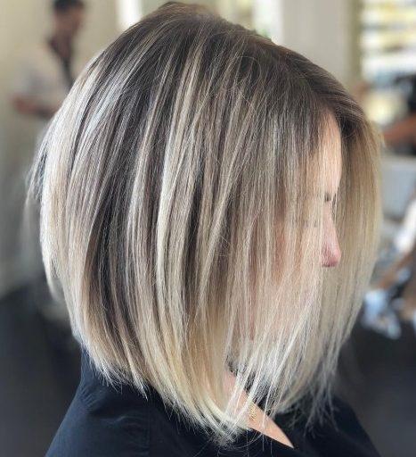 Shoulder length hair straight
