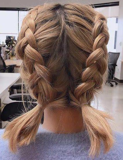 Step by step easy braids short hair