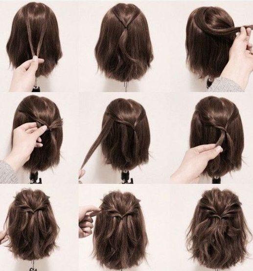 Step by step short hair