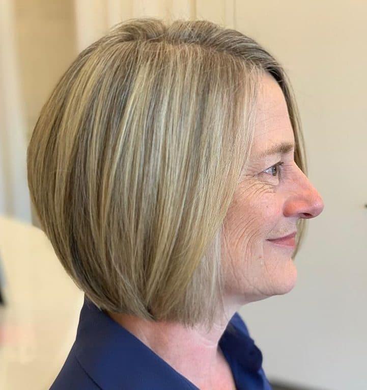Thin hair bob haircuts for older women