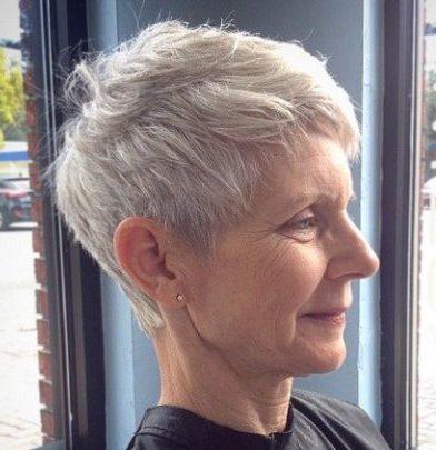 Thin hair short hairstyles for older women