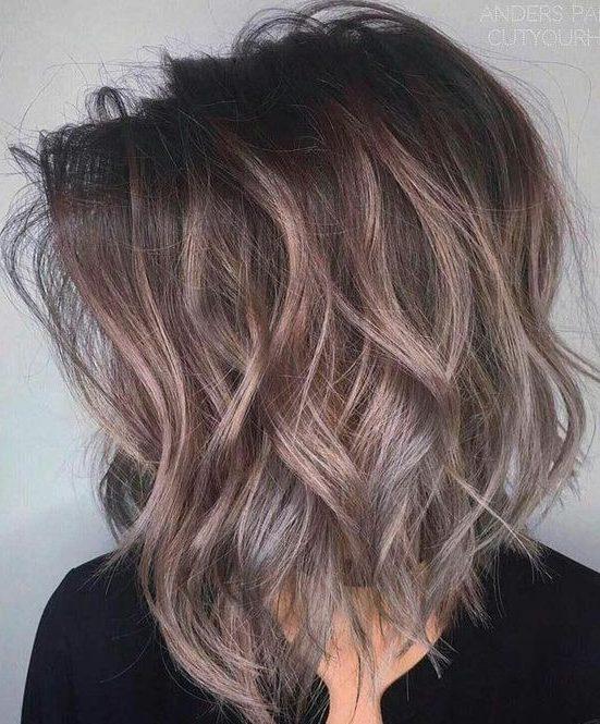Trendy shoulder length hair