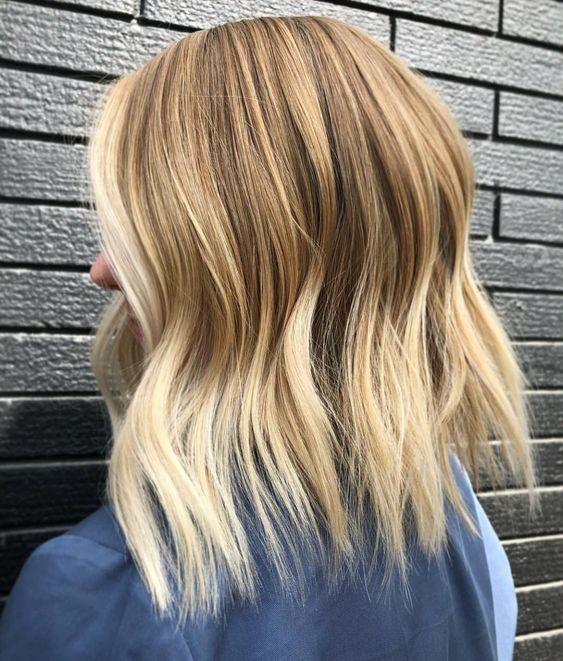 Natural blonde balayage short hair
