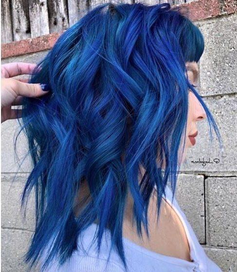 blue black short hair