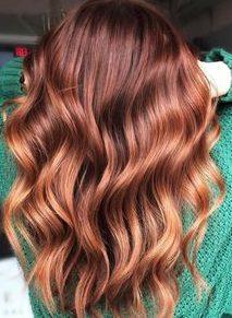 caramel auburn chestnut hair