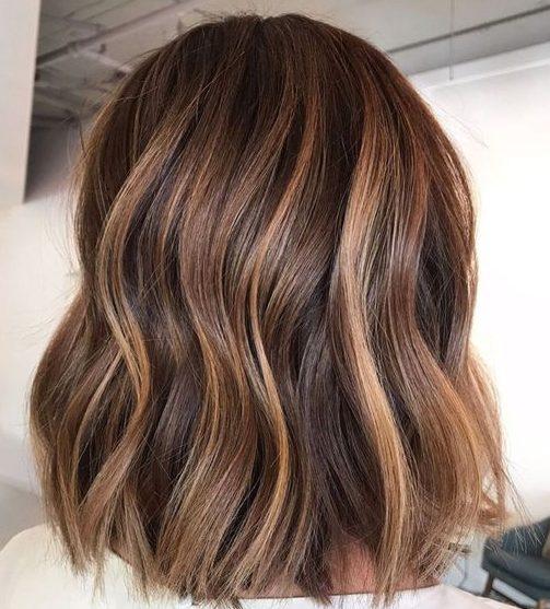 caramel balayage hair