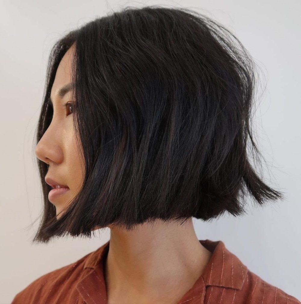 choppy chin length hairstyles