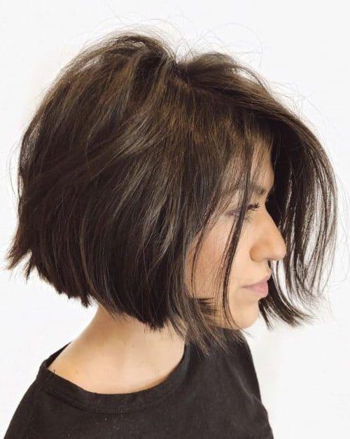 cute short haircuts with bangs