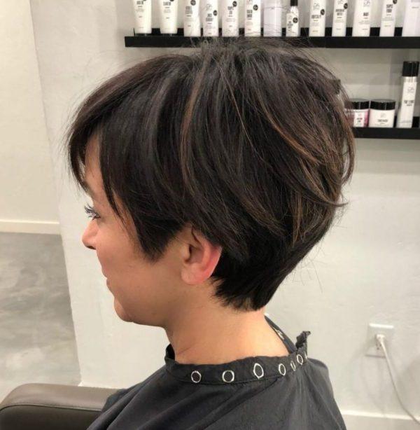 feminine pixie cut with undercut