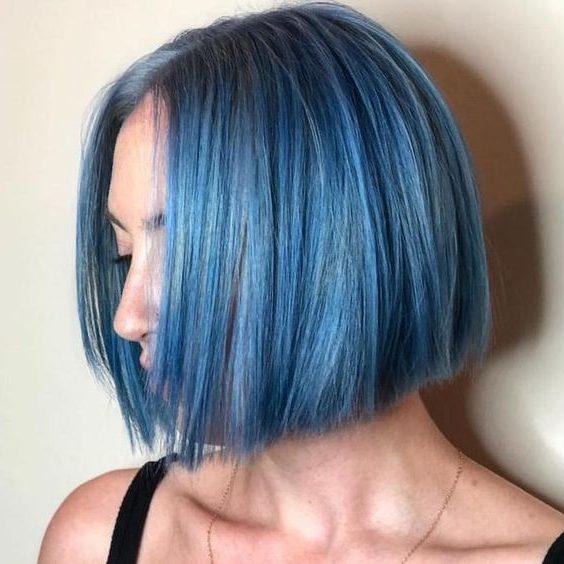 galaxy blue and short hair