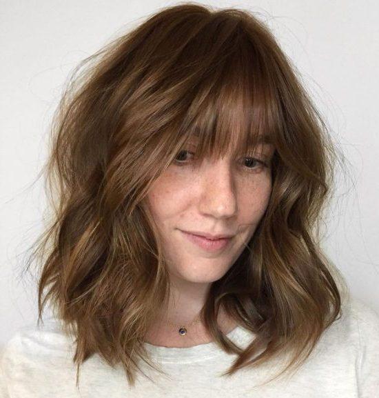 layered lob haircut
