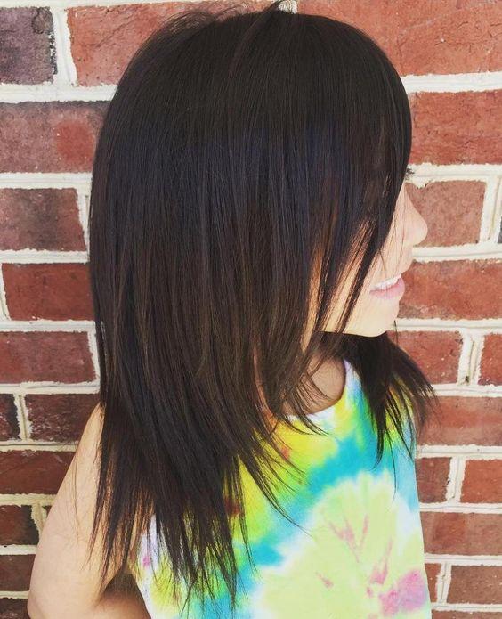 medium length haircut for girls