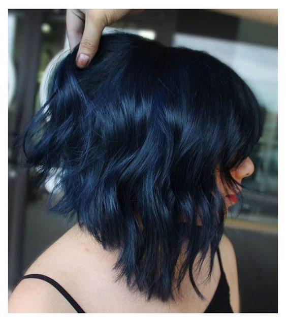 mermaid blue ombre hair short