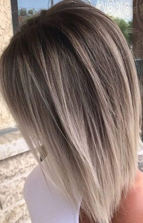 Short blonde balayage straight