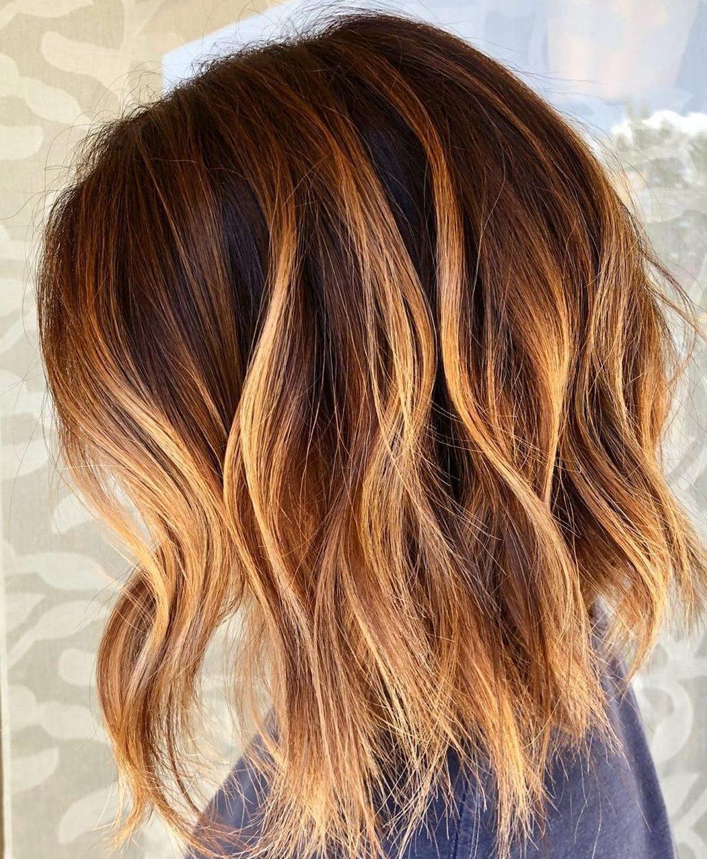 wavy bob hairstyles with bangs