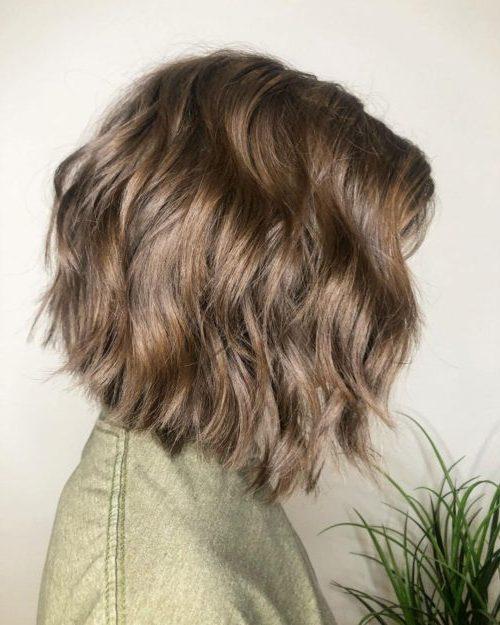thin hair feather haircut