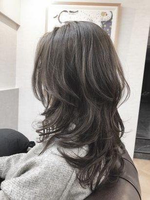 wolf cut hair female long